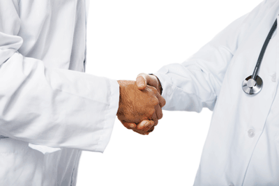doctors shaking hands